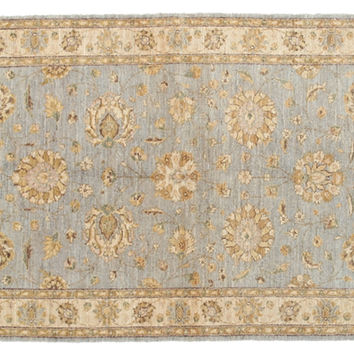 "4'2""x6'2"" Effa Rug, Light Blue, Area Rugs"