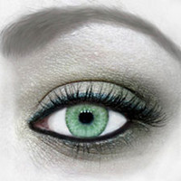 Green Water Colour Contact Lenses