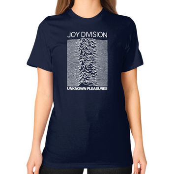 Joy Division Unknown Pleasures Unisex T-Shirt (on woman)