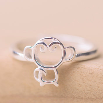 Jewelry Shiny New Arrival Gift Stylish 925 Silver Hollow Out Ring [8380582407]