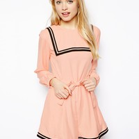 ASOS Playsuit with Sailor Detail