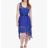 Blue Lace and Love Belted Sleeveless Dress   $10   Cheap Trendy Club and Party Dresses Chic Discoun