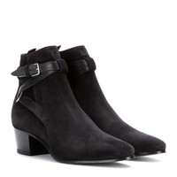saint laurent - blake suede ankle boots