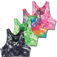 Sports Katz Womens Tie Dye Bra Top