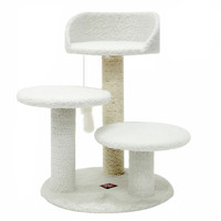 """Majestic Pet Products 27"""" Bungalow Sherpa Cat Tree"""