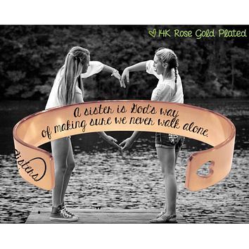 A sister is Rose Gold Bracelet | Sister Gift