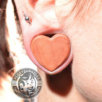 Cherry Wood Heart Shaped Plugs