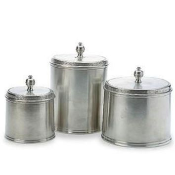 Match Pewter Canisters