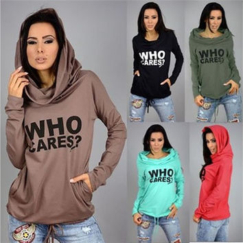 New Spring Women's Hooded Long Sleeve Tops c Hoodies Pullover Jumper Tops T Shirt [9221257604]