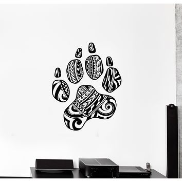 Vinyl Wall Decal Animal Paw Print Tribal Ornament Room Decor Stickers Mural (g1504)