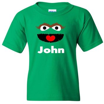 TurnTo Designs - Muppets OSCAR the Grouch Vinyl with Custom Name Logo Number