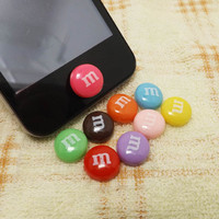 M Chocolate Beans Candy Home Button Sticker for by Polaris798