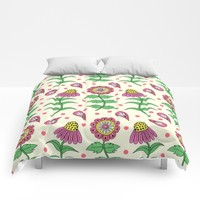 Sunny Floral Comforters by Sarah Oelerich