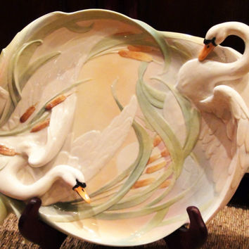 Franz Porcelain Southern Swan Splendor large platter FZ01551 Absolutely Stunning Free Shipping in the US