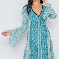 Paisley Mini Boho Dress