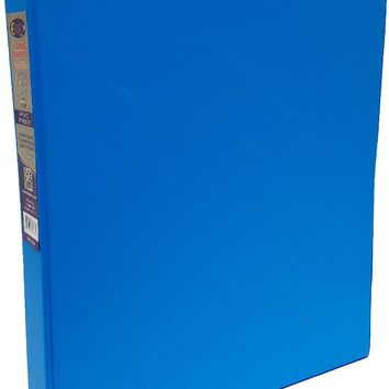 "1"""" Neon Blue Vinyl 3-Ring Binder w/ 2 Pockets Case Pack 24"