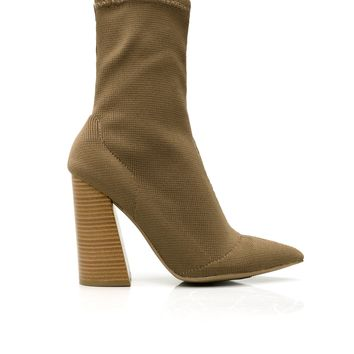 Sock It To Me Bootie - Taupe