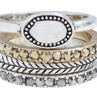 Lucky Brand Ring Stack Womens - Multicolor (7)