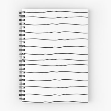 'Lines' Spiral Notebook by lorihinner