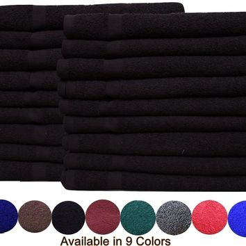 Cotton Salon Towels (16x27 inches) 3Lb/dz -Available in Multiple colors Soft Absorbent Quick Dry Gym-Salon-Spa Hand Towel