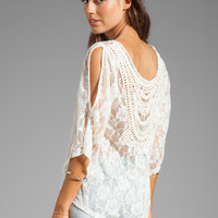 VAVA by Joy Han Bonnie Lace Top in Cream from REVOLVEclothing.com