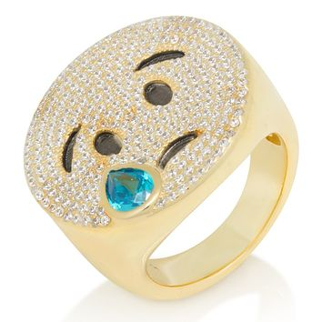 The Cry Later Emoji Ring (.925 Sterling Silver)
