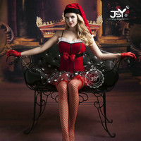Woman Sexy LIngerie Christmas Costumes Sexy Santa Claus Cosplay Babydoll Lingerie Sexy Holloween Costumes for Women