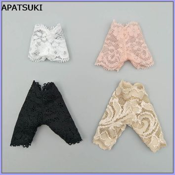 4pcs/lot Random Lace Underwear Briefs For Barbie Dolls Knickers For Blythe 1/6 BJD Dolls Underpant For Barbie Doll House