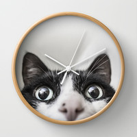 Cat Wall Clock by Joao Bizarro
