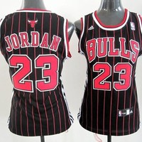 Jungle Sports Women's Chicago Bulls Michael Jordan Forever 23# Basketball Jersey RED Black 11 (S)