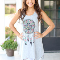 Dream Catcher Tunic - Grey