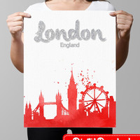 London printable, Printable Wall Art, printable art print, calligraphy print, Canvas art printable