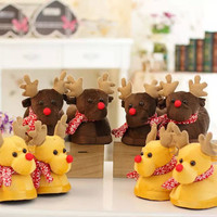New Warm Cashmere Home Woman deer Slippers/Shoes Autumn Floor Home Shoes Christmas Gift Pantufa chinelo women slippers winter