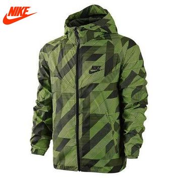 Authentic Nike Mens windproof windrunner jacket Out door training jacket green
