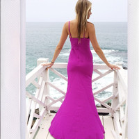 Lost In The Ocean Mist Gown- Plum