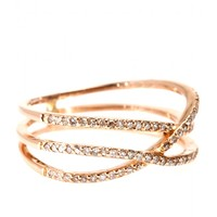 mytheresa.com -  Triple Row 14kt rose-gold eternity ring with white diamonds - Luxury Fashion for Women / Designer clothing, shoes, bags