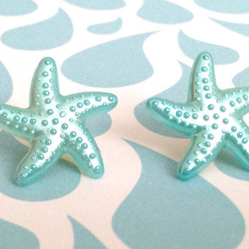 Blue Starfish Earrings 10% of this sale will go to Sea Shepherd Conservation Society