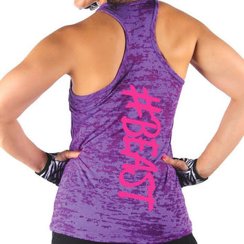 Beast Tank Top. #BEAST Tank. #Beast. #beast burnout tank top. #beast gym tank. Womens gym tank. womens workout top.