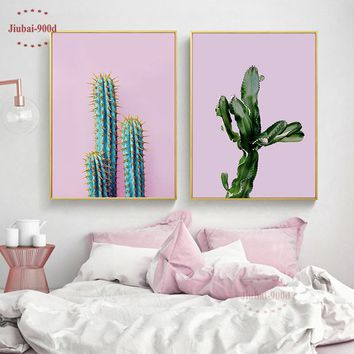 900D Cactus Posters And Prints Wall Art Canvas Painting Wall Pictures For Living Room Nordic Decoration NOR059