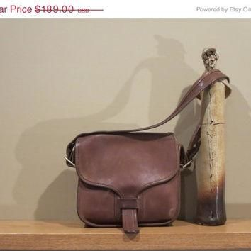 ON SALE Rare New York City Coach Brown Leatherware Courier Bag Pouch Purse Tote Messen