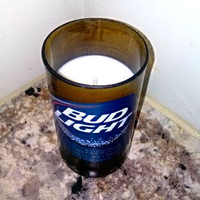 Bud Light Beer Bottle 100% Natural Soy Candle
