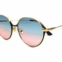 Gucci Classic Vintage Round Mirror Brand Designer Sunglasses Metal Lady Circle Retro UV400 Women Or Men  Sun Glasses Rays Victory [2974244574]