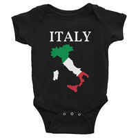 Italy/Custom Map Cut Out Infant Bodysuit