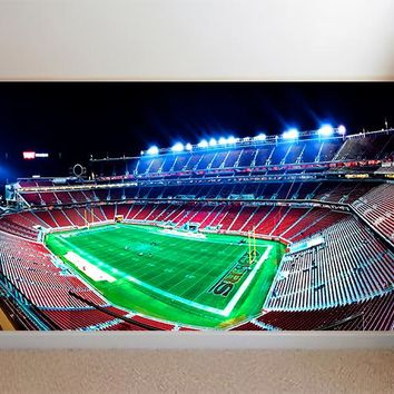 San Francisco 49ers Football Stadium Field Custom Designed Wallpaper Peel and Stick