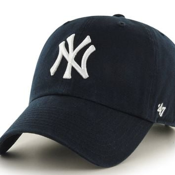Men's New York Yankees Clean Up Adjustable Game Dad Hat By '47 Brand