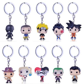 Pocket Pop Cute Keychain The Movie Anime Marvel Key Chain Theme Action Figure Collectible Model Walking Dead Nick Keyring