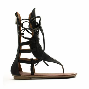Arena Ready Gladiator Thong Sandals - GoJane.com