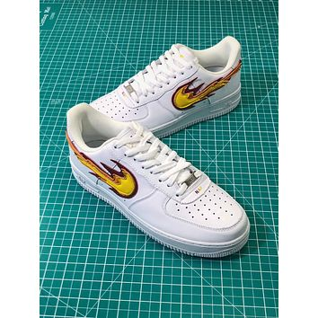 Nike Air Force 1 Af1 Low Flame Logo Sport Fashion Shoes - Sale