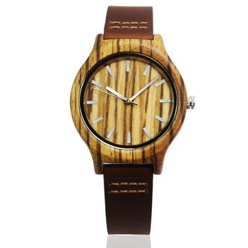 Hot Selling Zebra Wood Watch For Womens With Japan MIYOTA Movement Fashion Gifts For Christmas