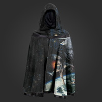 Welovefine:Galaxy Reversible Hooded Cape